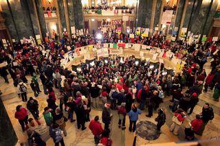 Protests+Continue+Wisconsin+Budget+Impasse+w86hcRErxEMl